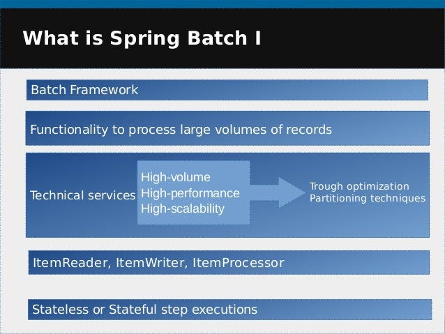 Spring batch custom reader and writer example