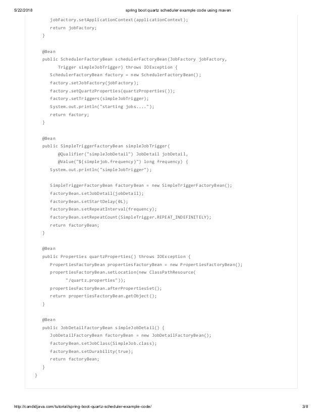 Spring boot quartz scheduler example