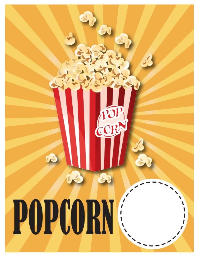 photograph relating to Popcorn Sign Printable known as Essential University Spring Carnival Indication Designs Printables