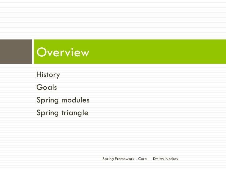 Spring Framework - Core Slide 4