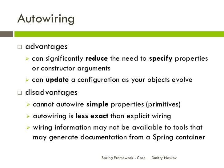 spring framework core rh slideshare net spring autowiring beans xml spring autowiring tutorial