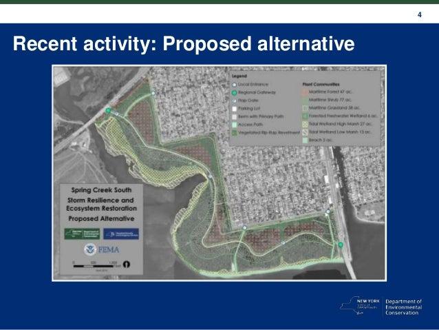 4 Recent activity: Proposed alternative