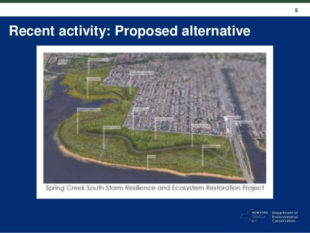 5 Recent activity: Proposed alternative
