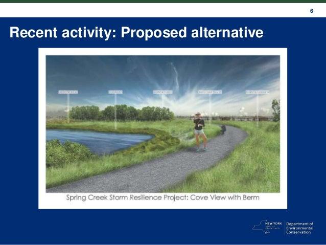 6 Recent activity: Proposed alternative
