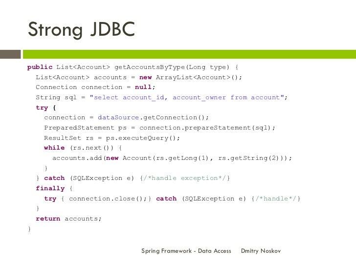 Spring Framework - Data Access