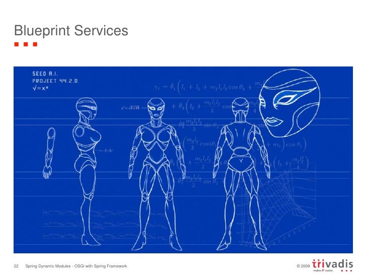Blueprint Services<br />Spring Dynamic Modules - OSGi with Spring Framework<br />22<br />