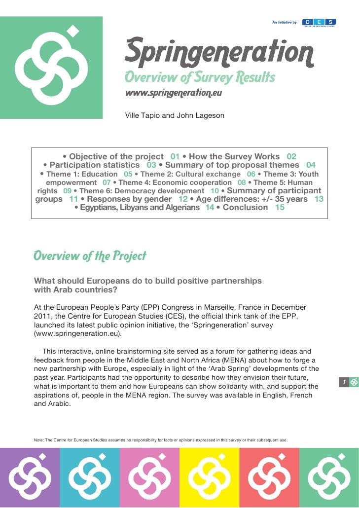 Ville Tapio and John Lageson         • Objective of the project 01 • How the Survey Works 02    • Participation statistics...