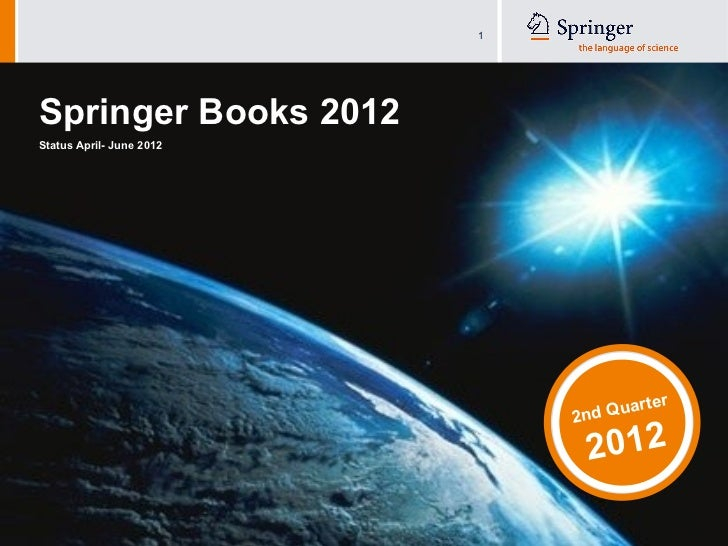 1Springer Books 2012Status April- June 2012                                                                       ua      ...