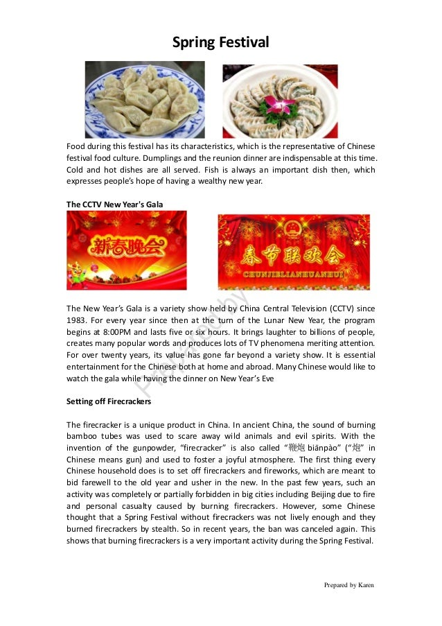Spring Festival Prepared by Karen Food during this festival has its characteristics, which is the representative of Chines...