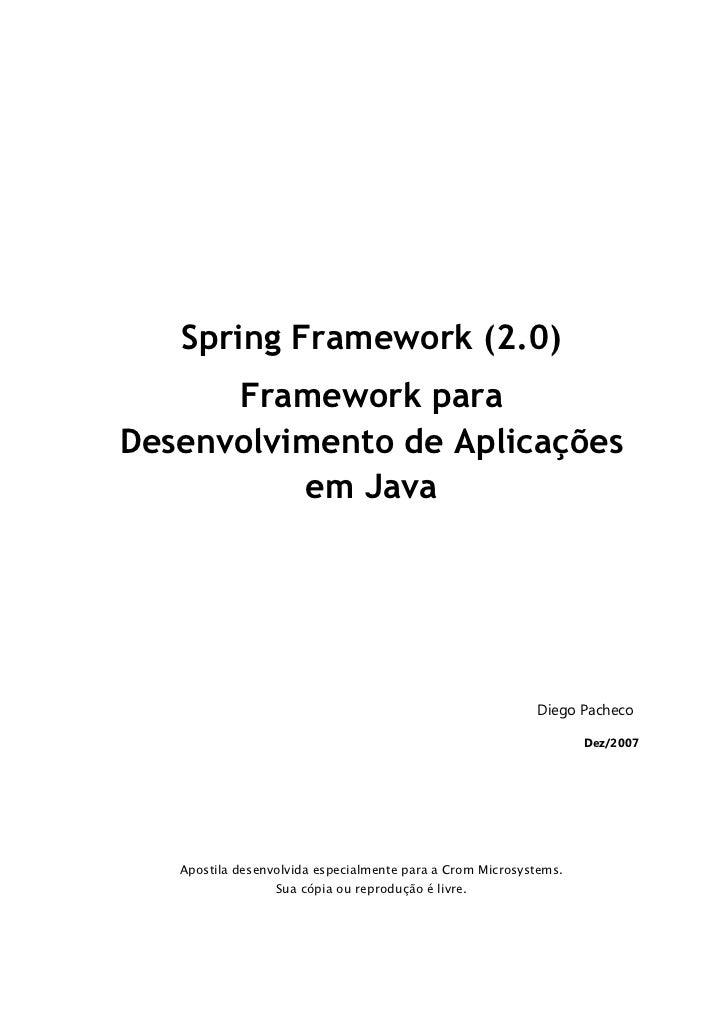 Spring framework 2.0 pt_BR