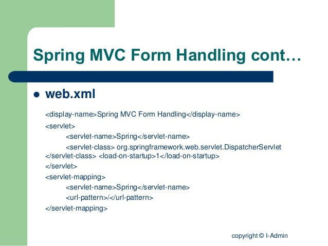 Tutorialspoint spring mvc