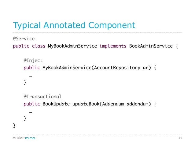 Typical Annotated Component  13