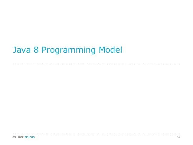 Java 8 Programming Model  36