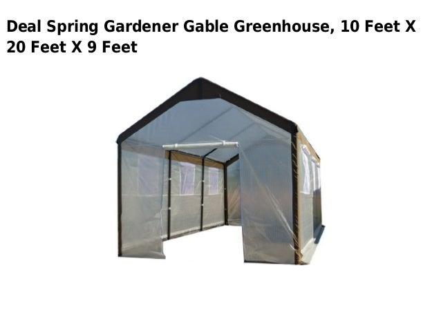 Captivating Deal Spring Gardener Gable Greenhouse, 10 Feet X20 Feet X 9 Feet ...