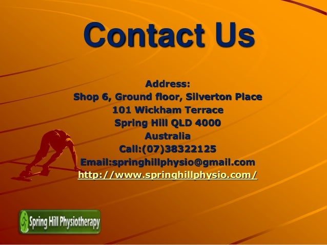 Spring hill physiotherapy for 101 wickham terrace brisbane