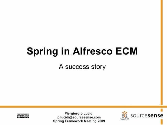 Spring in Alfresco ECM A success story