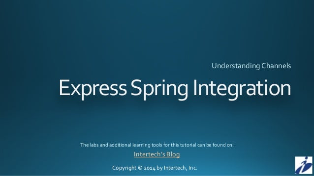 Copyright	   ©	   2014	   by	   Intertech,	   Inc. Express	   Spring	...