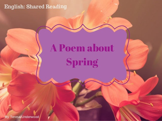 Spring Is Sprung