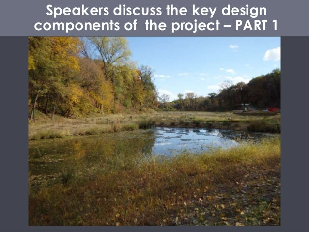 Speakers discuss the key design components of the project – PART 1