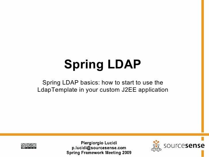 Spring Ldap