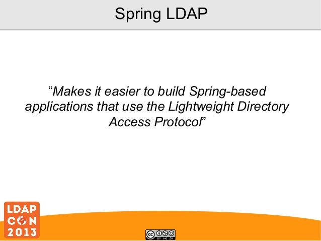 LDAP Development Using Spring LDAP