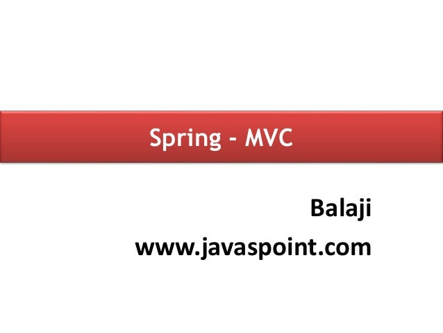 Spring MVC Architecture Tutorial