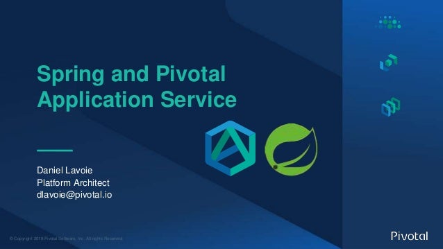 Spring Boot & Spring Cloud Apps on Pivotal Application