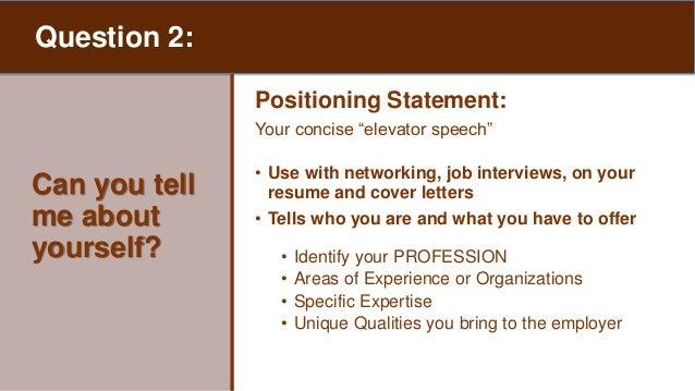 resume positioning statement
