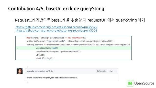 Contribution 4/5. baseUrl exclude queryString - RequestUri 기반으로 baseUrl 을 추출할 때 requestUri 에서 queryString 제거 https://githu...