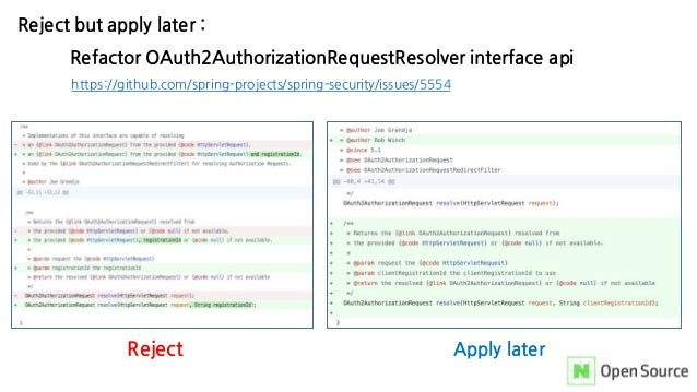 Reject but apply later : Refactor OAuth2AuthorizationRequestResolver interface api https://github.com/spring-projects/spri...