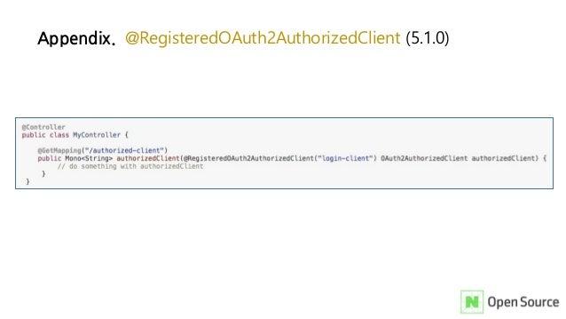 Appendix. @RegisteredOAuth2AuthorizedClient (5.1.0)