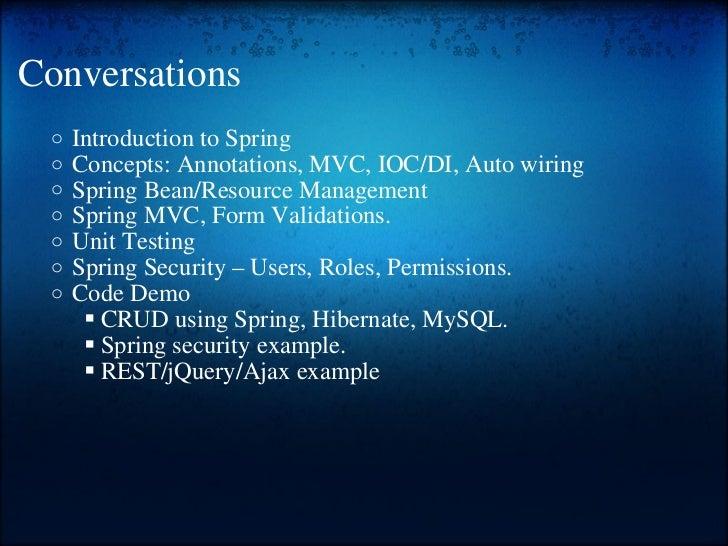 Spring training Slide 2