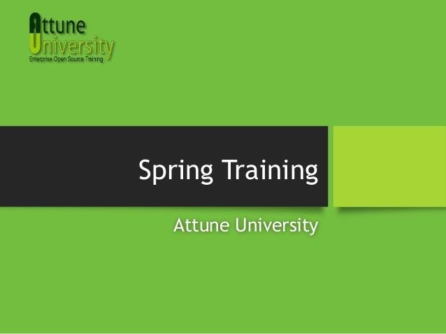 Spring Training Attune University