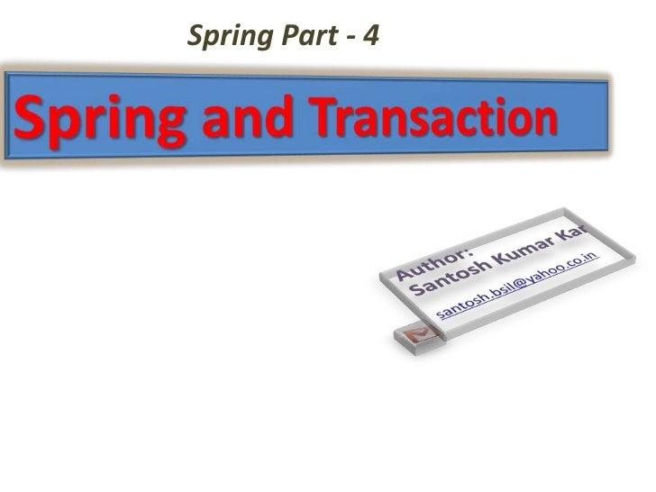 Spring Part - 4