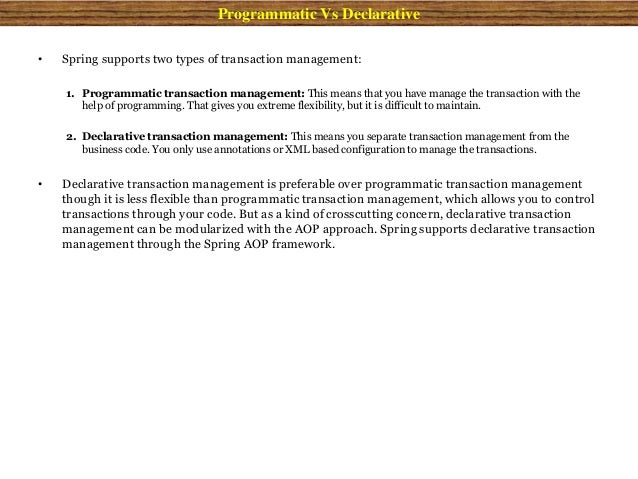 Spring Transaction Management