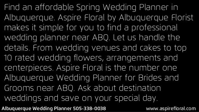 2 Find An Affordable Spring Wedding Planner In Albuquerque