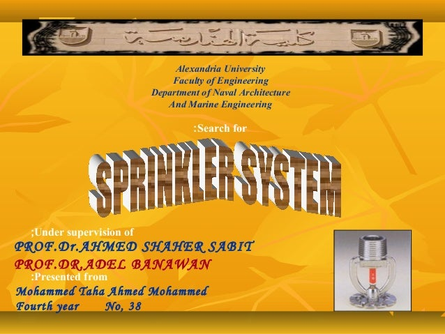 Alexandria University Faculty of Engineering Department of Naval Architecture And Marine Engineering Search for: Under sup...