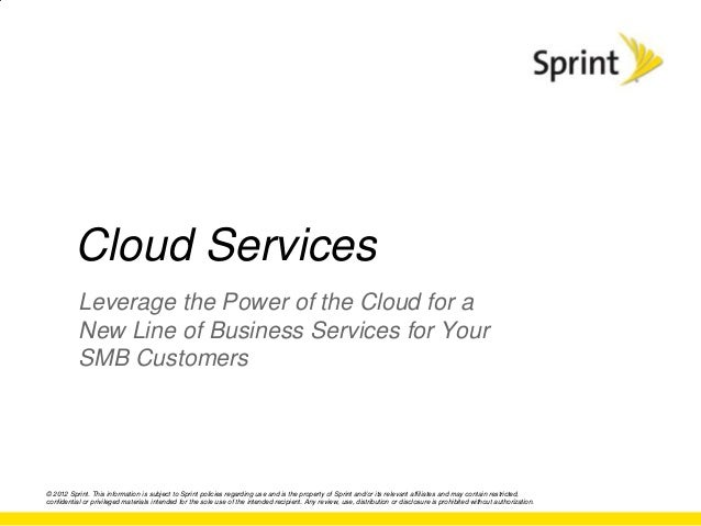 Cloud Services           Leverage the Power of the Cloud for a           New Line of Business Services for Your           ...