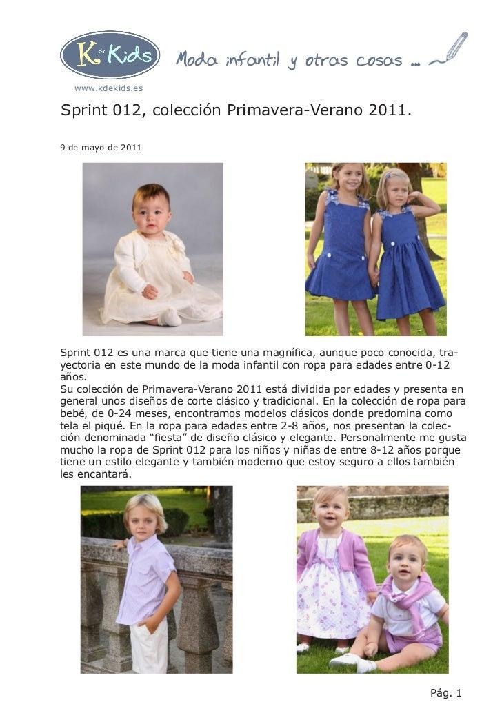 moda infantil sprint 012