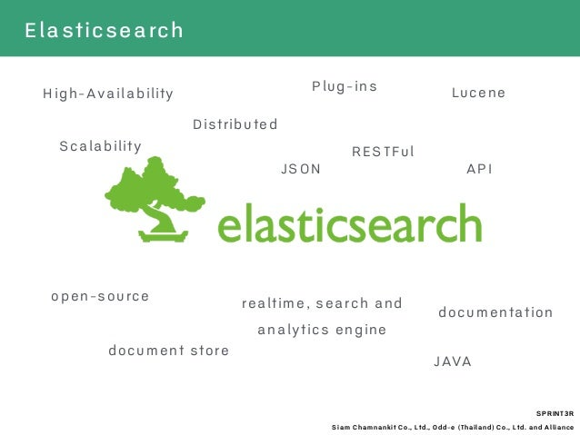 realtime, search and analytics engine SPRINT3R Siam Chamnankit Co., Ltd., Odd-e (Thailand) Co., Ltd. and Alliance Lucene D...