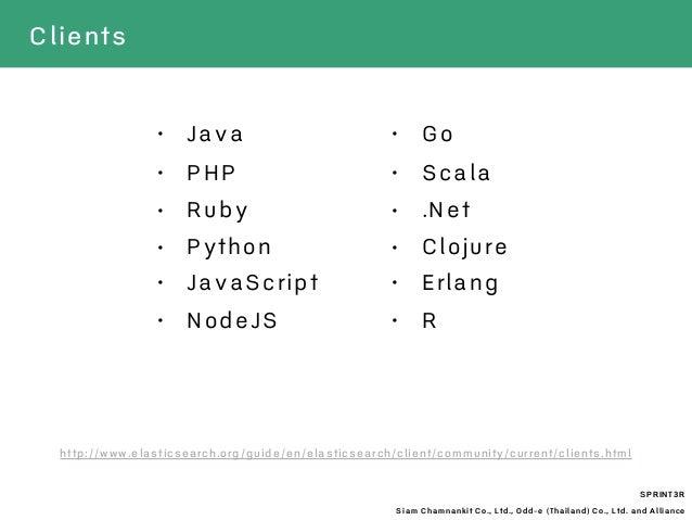SPRINT3R Siam Chamnankit Co., Ltd., Odd-e (Thailand) Co., Ltd. and Alliance • Java • PHP • Ruby • Python • JavaScript • Go...