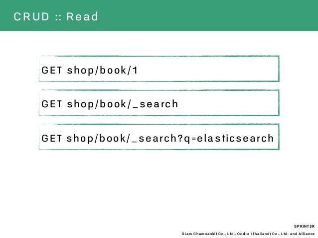 SPRINT3R Siam Chamnankit Co., Ltd., Odd-e (Thailand) Co., Ltd. and Alliance CRUD :: Read GET shop/book/1 GET shop/book/_se...