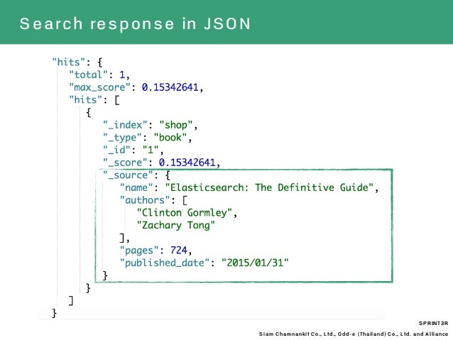 SPRINT3R Siam Chamnankit Co., Ltd., Odd-e (Thailand) Co., Ltd. and Alliance Search response in JSON