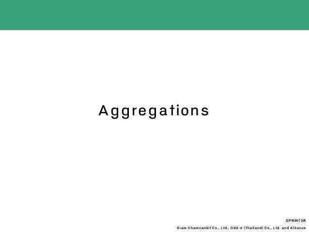 Aggregations SPRINT3R Siam Chamnankit Co., Ltd., Odd-e (Thailand) Co., Ltd. and Alliance