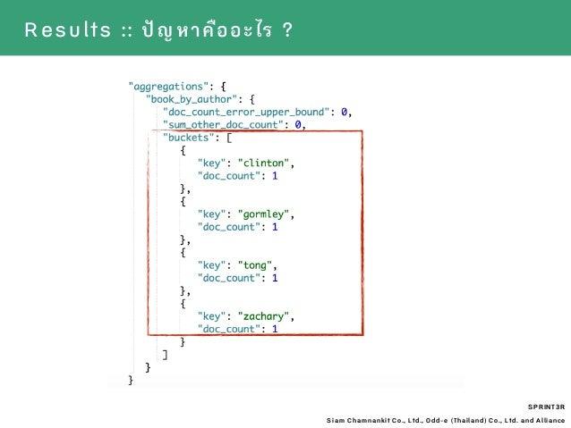 SPRINT3R Siam Chamnankit Co., Ltd., Odd-e (Thailand) Co., Ltd. and Alliance Results :: ปัญหาคืออะไร ?