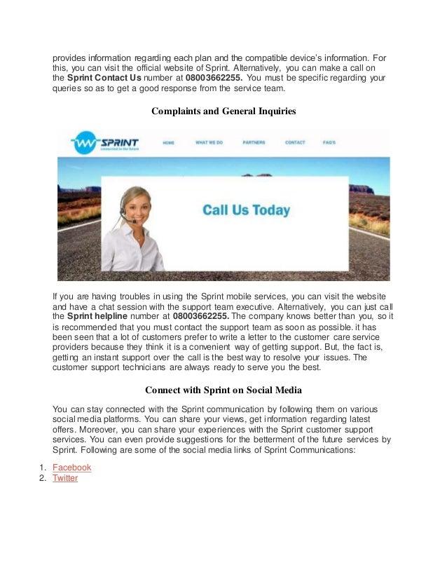 The Company Also; 10. Provides ...  Sprint Customer Care