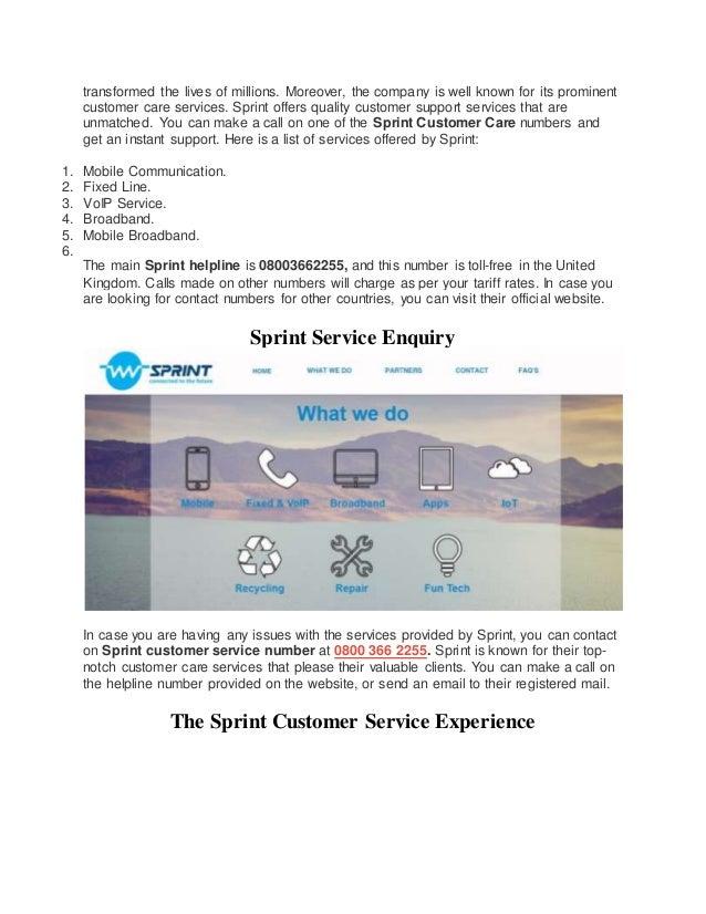 ... 5. Transformed ...  Sprint Customer Care