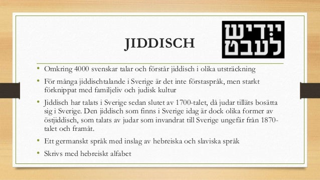 jiddisch i sverige