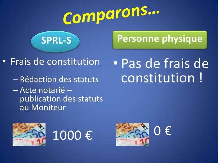 S P R L  S Ou  Personne Physique Slide 3