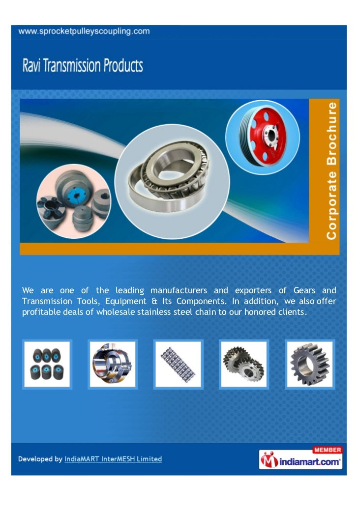 We are one of the leading manufacturers and exporters of Gears andTransmission Tools, Equipment & Its Components. In addit...